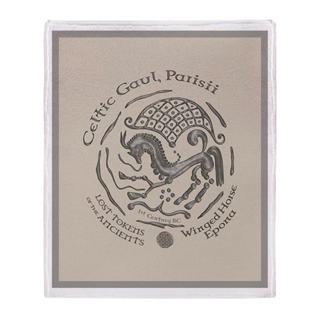 Celtic Epona Coin Throw Blanket
