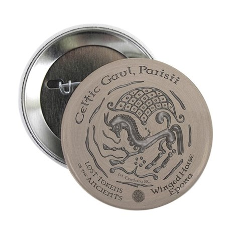 "Celtic Epona Coin 2.25"" Button (10 pack)"