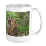 Mug with Lion showing teeth