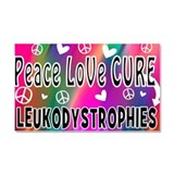 Leukodystrophy Car Magnet 20 x 12