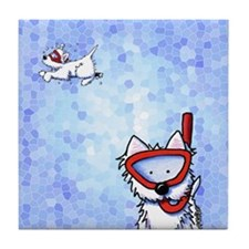 Snorkel Westies Tile Coaster