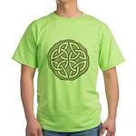 Celtic Knotwork Coin Green T-Shirt