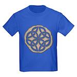 Celtic Knotwork Coin Kids Dark T-Shirt
