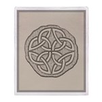 Celtic Knotwork Coin Throw Blanket