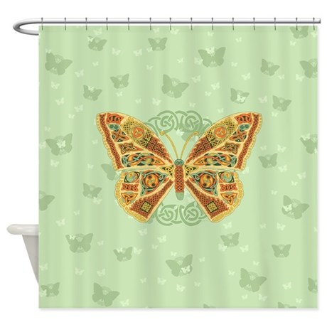 celtic butterfly shower curtain an original work of celtic art to revitalize your bathroom