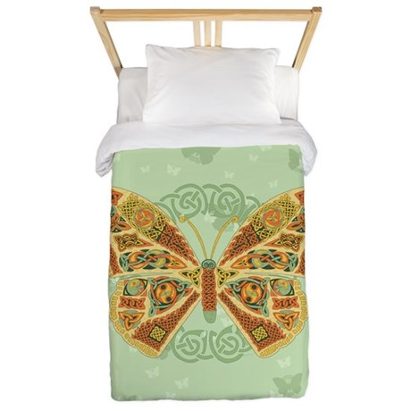 Celtic Butterfly Twin Duvet Cover