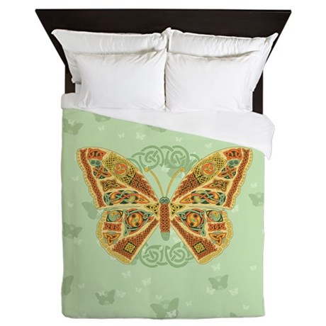 Celtic Butterfly Queen Duvet Cover