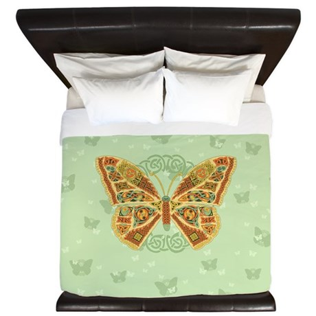 Celtic Butterfly King Duvet Cover