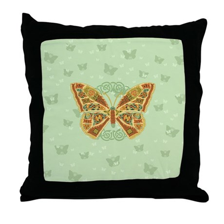 Celtic Butterfly Throw Pillow