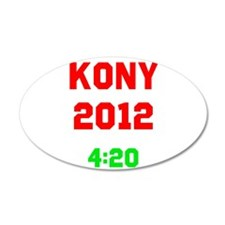 Kony 2012 4:20 38.5 x 24.5 Oval Wall Peel