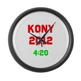 Kony 2012 4:20 Large Wall Clock