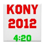 Kony 2012 4:20 Tile Coaster