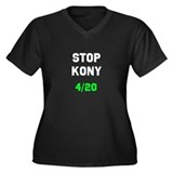 Stop Kony 4/20 Dark Women's Plus Size V-Neck Dark