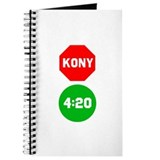 Stop Sign Kony Go 420 Journal
