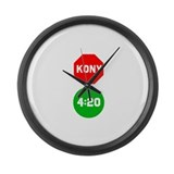 Stop Sign Kony Go 420 Large Wall Clock