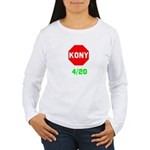 Stop Kony 420 Women's Long Sleeve T-Shirt