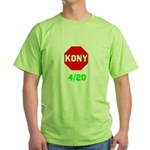 Stop Kony 420 Green T-Shirt