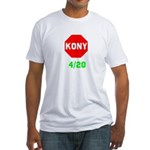 Stop Kony 420 Fitted T-Shirt