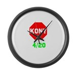 Stop Kony 420 Large Wall Clock