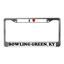 I Love Bowling Green License Plate Frame