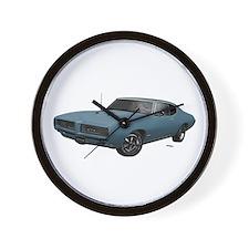 1968 GTO Aleutian Blue Wall Clock