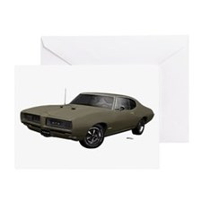 1968 GTO Nightshade Green Greeting Card