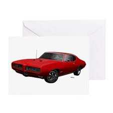 1968 GTO Solar Red Greeting Cards (Pk of 20)