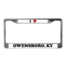 I Love Owensboro License Plate Frame