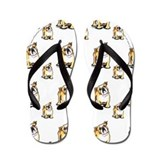 Lotsa English Bulldogs Flip Flops
