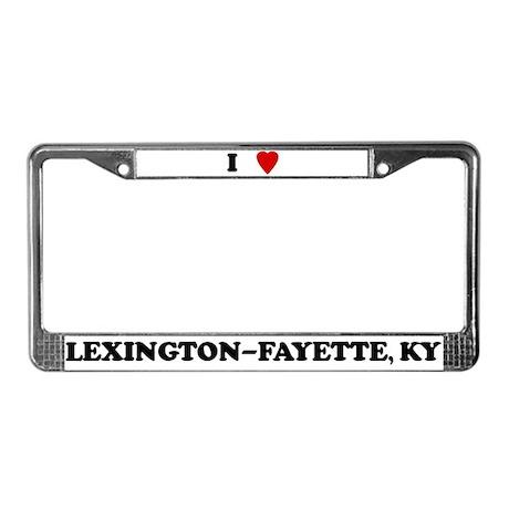 I Love Lexington-Fayette License Plate Frame