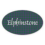 Tartan - Elphinstone Sticker (Oval 10 pk)