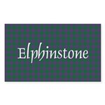 Tartan - Elphinstone Sticker (Rectangle 50 pk)