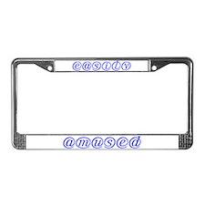 Easily Amused - License Plate Frame