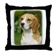 Beagle 9K34D-17 Throw Pillow