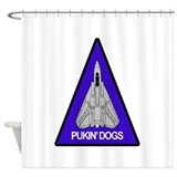 VF-143 Pukin' Dogs Shower Curtain