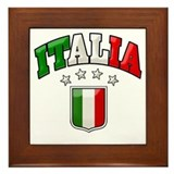4 Star Italia Soccer Framed Tile
