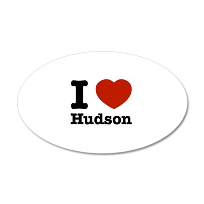 I love Hudson 22x14 Oval Wall Peel