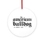 American Bulldog Ornament (Round)