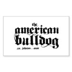 American Bulldog Sticker (Rectangle 50 pk)