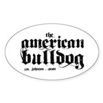 American Bulldog Sticker (Oval 50 pk)