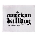 American Bulldog Throw Blanket