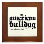 American Bulldog Framed Tile