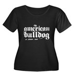 American Bulldog Women's Plus Size Scoop Neck Dark