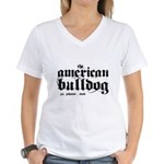 American Bulldog Women's V-Neck T-Shirt