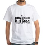 American Bulldog White T-Shirt