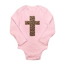 LEOPARD CROSS Long Sleeve Infant Bodysuit