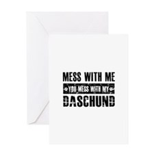 Funny Daschund Design Greeting Card