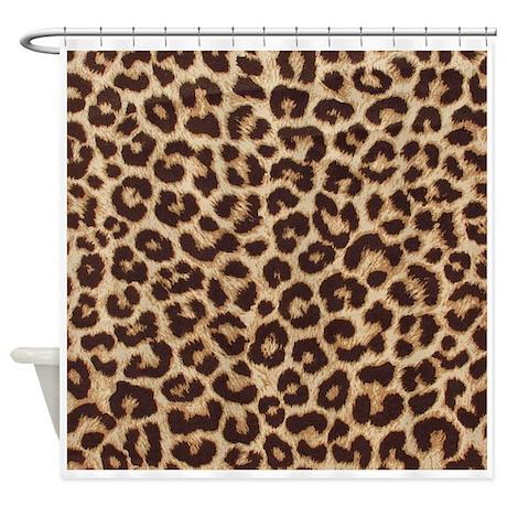 leopard print shower curtain by theartofvenus