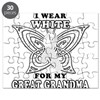 I Wear White for my Great Gra Puzzle