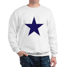 Blue Star Sweatshirt (white)